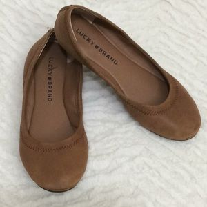 Lucky Brand Leather Ballet Flats/ Shoes Sz 5